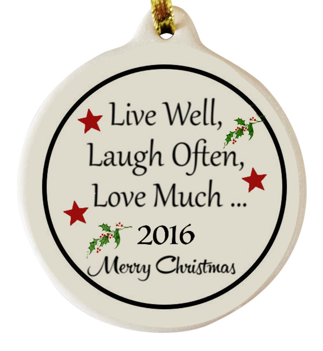 live well laugh often love much 2016 porcelain christmas. Black Bedroom Furniture Sets. Home Design Ideas