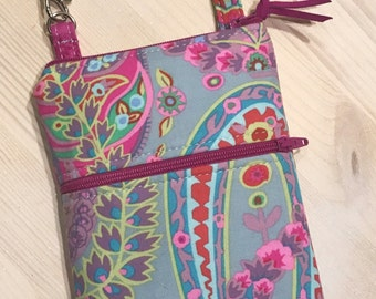 Serenity Paisley Phone Case Magenta Pink Lavender Shoulder Strap Option iPhone 6 Plus Note Galaxy Android OR Orange Red Pink Ready to Ship