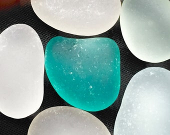 Sea Glass or Beach Glass of Hawaii AQUA! BLUE!  39 dollars1  Bulk Sea Glass! ROUNDED! Next day shipping!