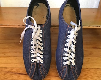Vintage Denim Bowling Shoes