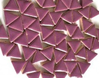 15mm Pretty Purple Glazed Ceramic Triangle Mosaic Tiles//Mosaic Pieces//Mosaic Supplies//Crafts