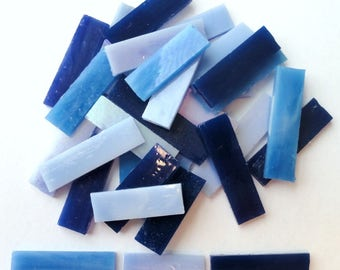 Blue Tiffany Stained Glass Border Mosaic Tiles//Mosaic Supplies//Mosaics//Crafts