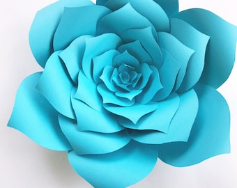 DIY Baby Shower Decor Paper Flowers, Baby Shower How To Paper Flower, Paper Flower Template Instructions