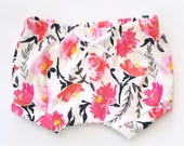 Shorties | Watercolor Flora | Sizes 3 Months to 5T | baby girl shorts, girl shorts, summer shorts, floral, shorts