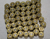 9mm Brass Shell Casings Spent Bullets Crafting Jewelry Making Lot of 50 Reclaimed Recycled