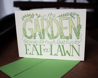 In the Garden - Card