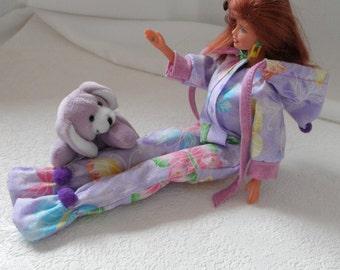 FOOTED Hooded PAJAMAS  Playsuit Barbie Skipper n many more