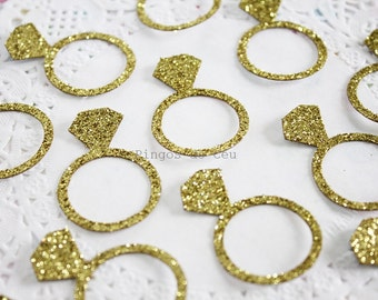 Ring Confetti - Paper Confetti - Gold Confetti - Party Confetti -  Bachelorette Party Confetti - Made to Order