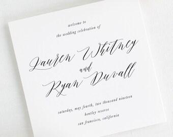 Lauren Wedding Programs - Deposit