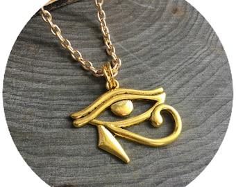 Eye of Horus, Egyptian Eye of Ra Udjat necklace or choker