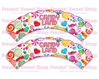 Candy Land Cupcake Wrapper PDF file