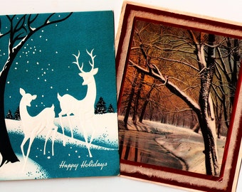 Vintage Christmas Cards ~ C9