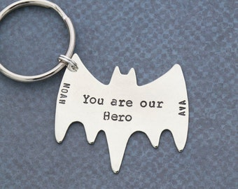 Dad Gift Superhero Keychain • Gift Kids Son Dad Daughter Keychain Superhero Gift Ideas • Husband Gift Ideas Grandpa Gift Ideas • QQQ