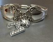 A Silver Bracelet, M Bracelet,Spoon Bracelet, FREE USA SHIPPING, Womens Bracelet, Charm Bracelet, Bracelet, Wrist Wear, Jewelry