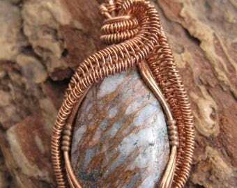Grounded///Copper Included Quartz and Copper Wire Wrap Pendant, One of a Kind, Handmade, Art