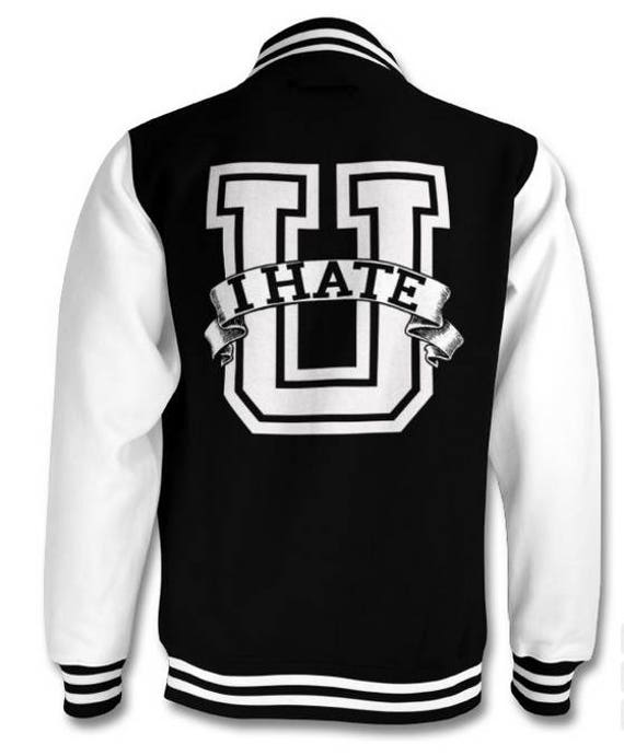 I Hate U Collegiate varsity jacket