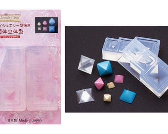 DIY Grace 3 sizes Octahedron (8 faces) High Quality Silicone Soft Mold For Clay / Resin / UV Resin/ Soap from Japan GR-121
