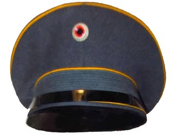 Vintage 1980s West German Officers Military Hat Euro Size 56 Fits a Size 7 or a Size Small to Medium