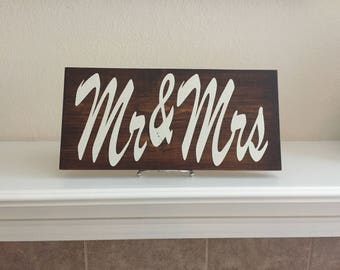 Mr & Mrs Wood Sign