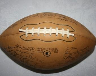 Vintage Detroit Lions Football Leather Facsimile Signatures