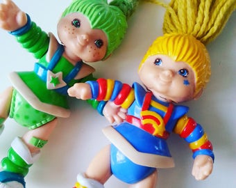 Vintage, Rainbow Brite, 80s , 1980s, 1983, Hallmark cards, toys, poseable, figures, choose style, figures, plastic, by NewellsJewels on etsy