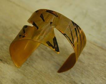 Vintage 80s Handmade Copper Cuff Bracelet/Boho/Bohemian Chic/Modern