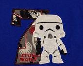 Star Wars Birthday Shirt, Storm Trooper Kid