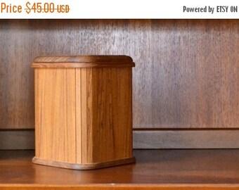 SALE 20% OFF vintage mid-century teak kalmar designs ice bucket