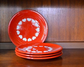 vintage waechtersbach red heart plates / red heart plate / mom / mothers day