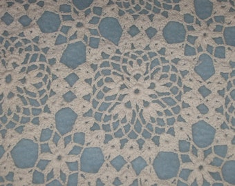 Vintage Crochet lace tablecloth or bed topper