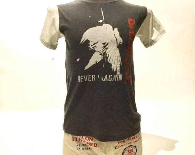Vintage Band Tee Shirt Discharge Never Again 80's (OS-TS-70)