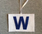 W Flag Ornament, Fly The W, Chicago Cubs