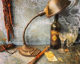Gooseneck Lamp / Eagle / Industrial Lighting / Desk Lamp / Industrial Chic / Gooseneck Lamp / Eagle