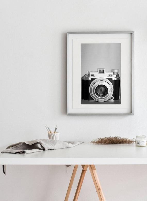 Vintage Kodak Medalist II-  Matte Print | Vintage Object  Art,  Black & White Camera Print, Gift for Photographer, Studio Decor, New Years