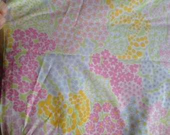 Vintage Retro Twin Sheet Set Fitted Flat