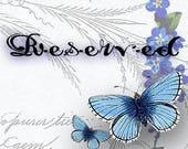 RESERVED - Custom Order for 2 Larimar Bracelets