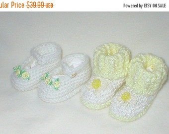 40% OFF RETIRING SALE Crochet Baby 0-3 Mts.White Yellow Satin Roses Hello Kitty By Hello Kitty Mary Janes White Yellow Organza Velvet Bows B