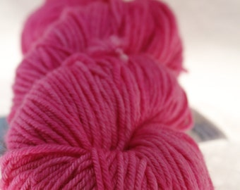 MADE to ORDER Choose Your Weight Hand Dyed Yarn - Hot Pink