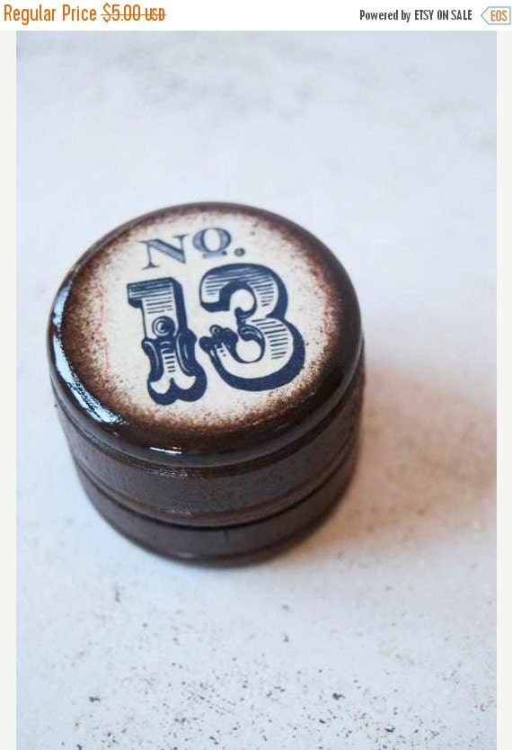 ON SALE Lucky No. 13  Pill Box - Daily Junque