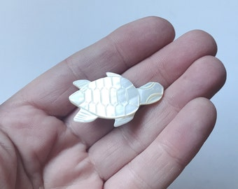 Turtle Mother of Pearl Brooch