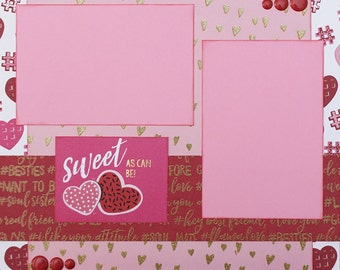 Sweet Basic Premade Scrapbook Page 12x12 Layout for Album