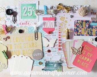 So Loved -  Inspirational - Cardmaking - Planner Kit - Journal Kit - Scrapbook Page Embellishment Kit - Journaling Cards