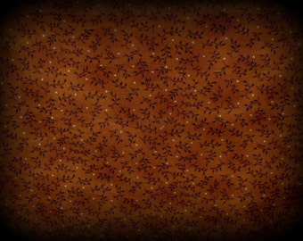 Sunday Best, Autumn Fabric, 36  x 44 Inches, Leaf Fabric, Med Brown Fabric, Autumn Material, Cotton Fabric, Thanksgiving Fabric, Henry Glass