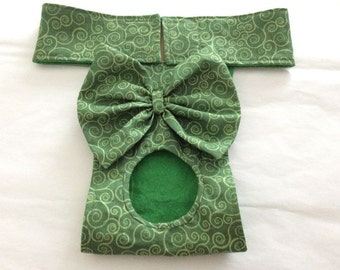 Female Dog Diaper - Britches - Dog Panty / Panties- Green Swirls - Available in all Sizes