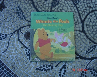 Walt Disney's Winnie the Pooh The Blustery Day - A Golden Tell-a-Tale Book - Great Condition
