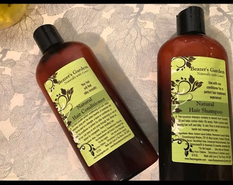 Herbal Shampoo & Conditioner - Organic - Haircare - Holiday Gifts - For Him - For Her - Gifts for teens - Hair shampoo - Hair conditioner
