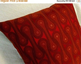 FAB SALE Design 9297 Scarlet Josef Hoffmann  Pillow Cover - Mid Century Modern -  Maharam Fabric Cover - Many sizes available