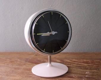 Mid Century Rare Pedestal Alarm Clock