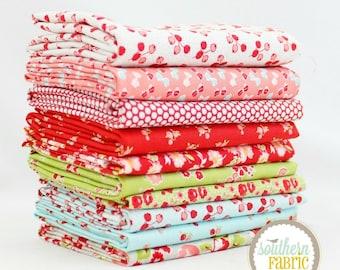 "Little Ruby - Fat Quarter  Bundle - 10 - 18""x21"" Cuts - Bonnie and Camille - Moda Quilt Fabric"