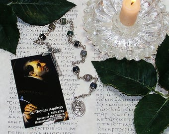 Unbreakable Catholic Chaplet of St. Thomas Aquinas - Patron Saint of Universities and Students, Writers and Publishers